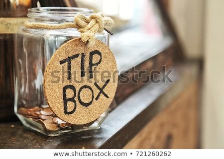 ponta · jarra · dólares · moedas · vidro · dinheiro - foto stock © foka