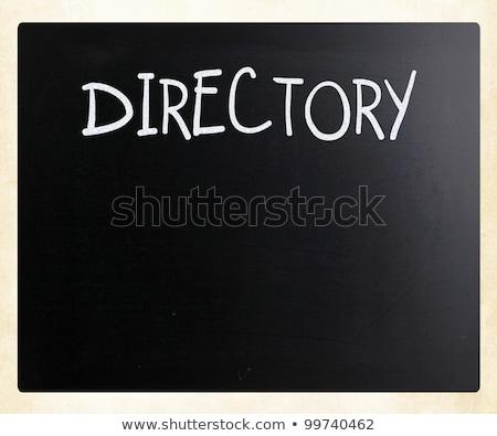 黒板 · 黒板 · テクスチャ · 空っぽ · 黒 · チョーク - ストックフォト © nenovbrothers