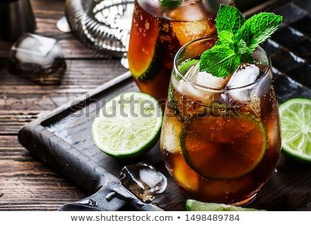 Rum koktajl mojito pić wysoki szkła Zdjęcia stock © stevemc