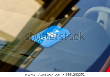 műszerfal · lemez · belső · modern · európai · autó - stock fotó © microolga