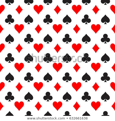 rangée · cartes · poker · table · rouge - photo stock © prill