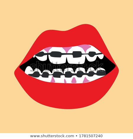 Bite your lip red Stock photo © vlad_star