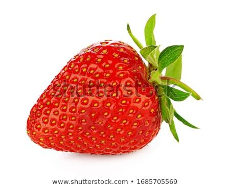 The single strawberry  stock photo © yurikella