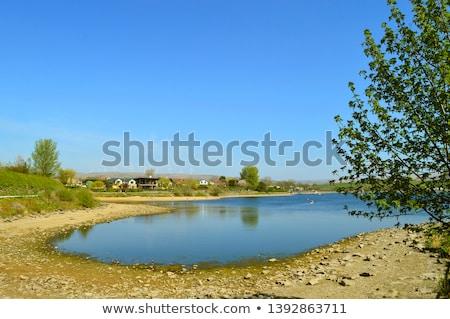 caiaque · lago · arco · primeiro · plano · praia - foto stock © chris2766