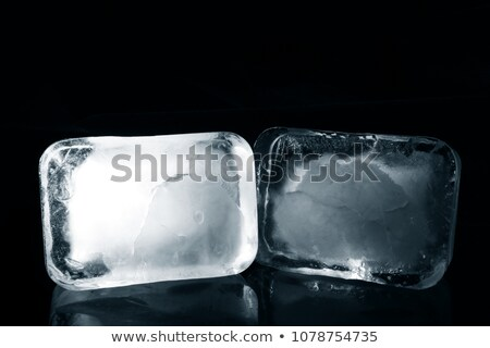 cold ice block on white background Stock photo © pterwort