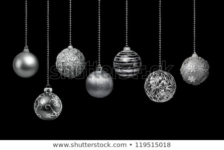silver christmas ball on black Stock photo © Rob_Stark