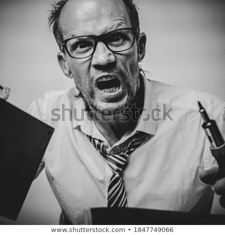 Man has lost on his work from computer Stock photo © photography33