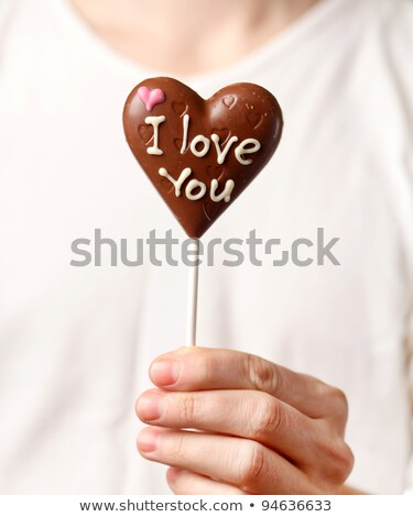 Valentine Guy & Chocolates Stock photo © lisafx