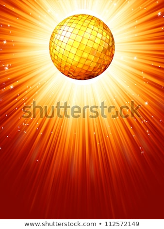 Sparkling orange red disco ball. EPS 8 Stock photo © beholdereye