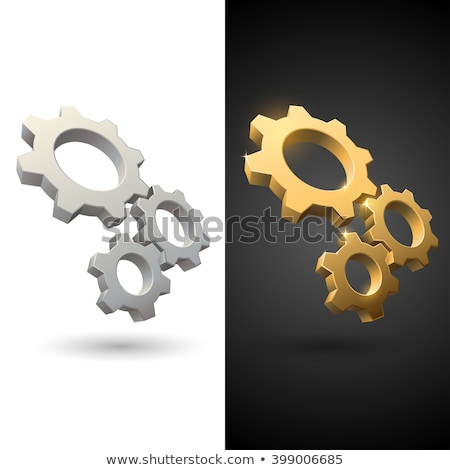 3D versnellingen geïsoleerd witte technologie industriële Stockfoto © kitch