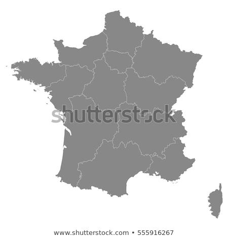 地図 · フランス · 政治的 · いくつかの · 地域 · 抽象的な - ストックフォト © schwabenblitz