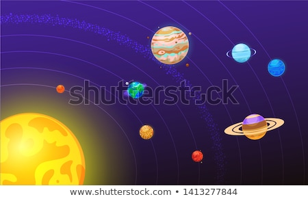 Nap naprendszer terv hold háttér művészet Stock fotó © dagadu