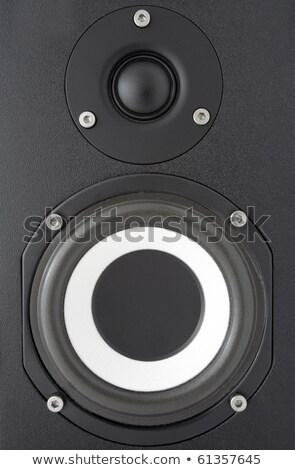 Background of black speaker with sphere stock photo © shutswis