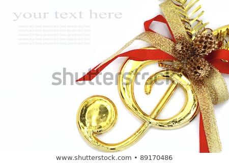 Foto stock: Christmas Treble Clef