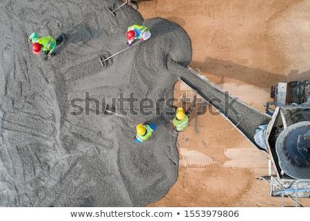 Concreto batedeira água trabalhar trabalhador buraco Foto stock © photography33