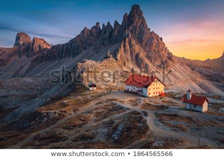 Küçük küçük kilise İtalya çim Bina Stok fotoğraf © Antonio-S