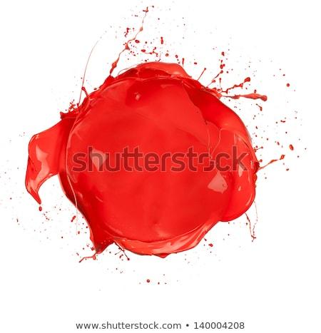 Rood verf kunst golf kleur Stockfoto © SSilver