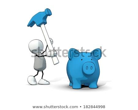 trenó · martelo · branco · negócio · dinheiro - foto stock © Quka