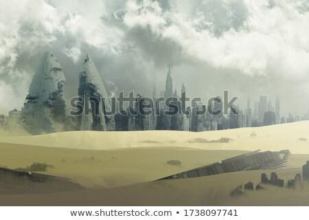exóticas · mundo · cielo · espacio · azul - foto stock © andromeda
