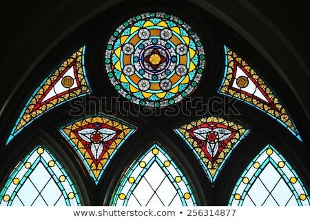 Vitrais Riga belo colorido janela detalhes Foto stock © kyolshin