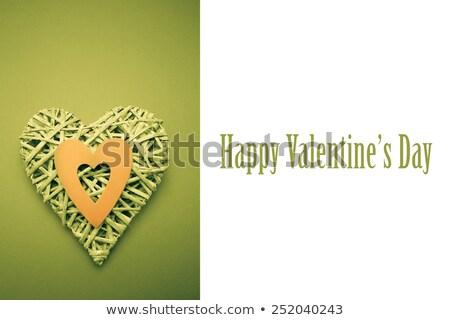плетеный сердце орнамент зеленый Сток-фото © wavebreak_media