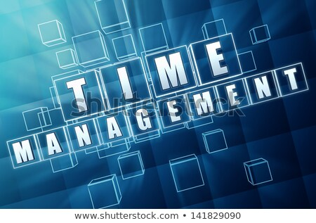 time management in blue glass cubes Stock photo © marinini