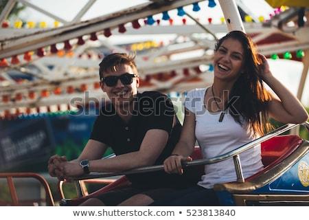 Seks adam parmak düğme kelime yazılı Stok fotoğraf © nito