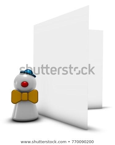 カード · 祝賀 · 3次元の図 · パーティ · 楽しい · マスク - ストックフォト © drizzd