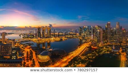 Sunset view of Singapore Stock photo © joyr