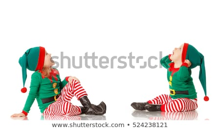 Stock photo: Christmas Boy And Girl Elves