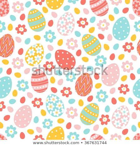 Vetor páscoa sem costura retro ovos primavera Foto stock © alexmakarova