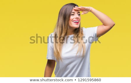 beauty woman looks far away Stock photo © feedough