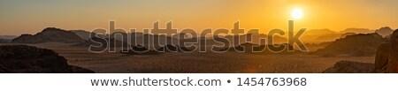 Stock photo: desert sunset panorama