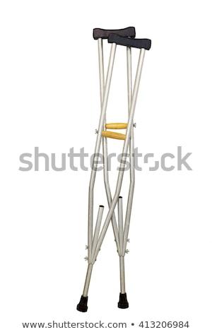Alumínio muletas foto branco médico ajudar Foto stock © Marfot