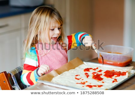 preschooler making fresh pizza Stock photo © gewoldi