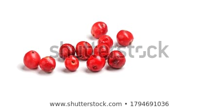 Piros borsszem fehér kanál közelkép minta Stock fotó © zhekos