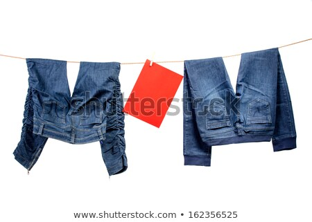 Jeans, with red table on the clothesline Stock photo © Geribody