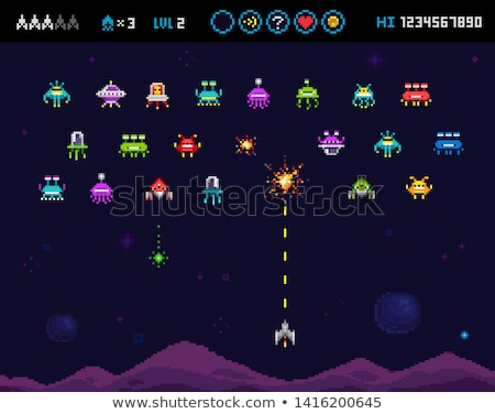 battle with space invaders Stock photo © mayboro