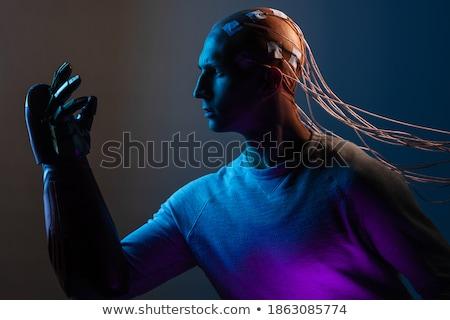 myślenia · biały · robot · odizolowany · 3d · ilustracji · Internetu - zdjęcia stock © kirill_m