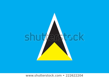Flag of Saint Lucia Stock photo © creisinger