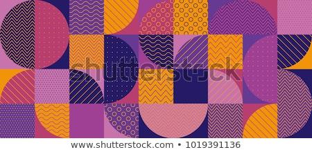 レトロなパターン · 幾何学的な · 六角形 · パターン · カラフル - ストックフォト © creative_stock