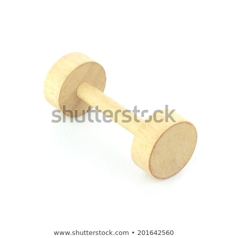 wooden handmade transporter car isolated on white Stock photo © compuinfoto