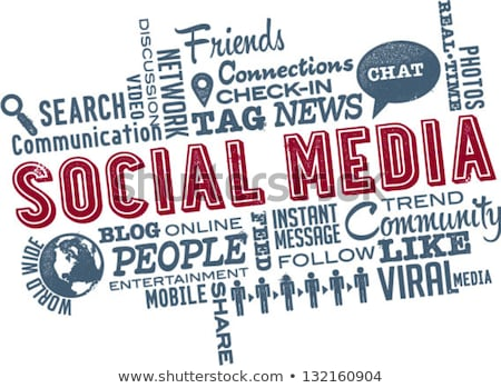 social media word cloud stock photo © burakowski