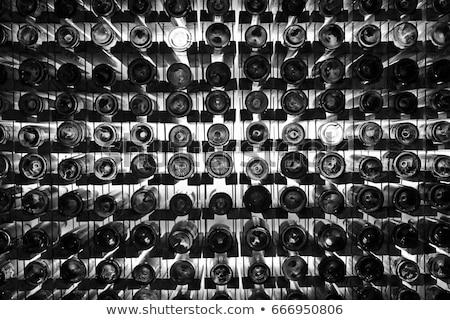 White Wine Black and White Stock photo © THP