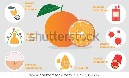 Benefit Concept on Orange in Flat Design. Stock photo © tashatuvango