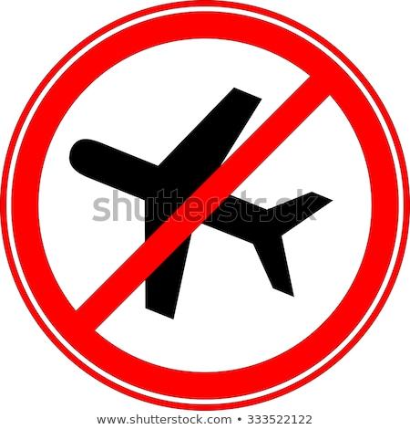 No airplane sign Stock photo © alessandro0770