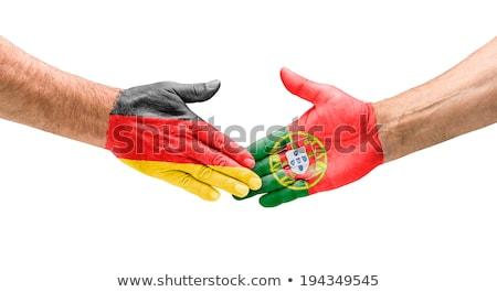 Stretta di mano Germania Portogallo mano riunione sport Foto d'archivio © Zerbor