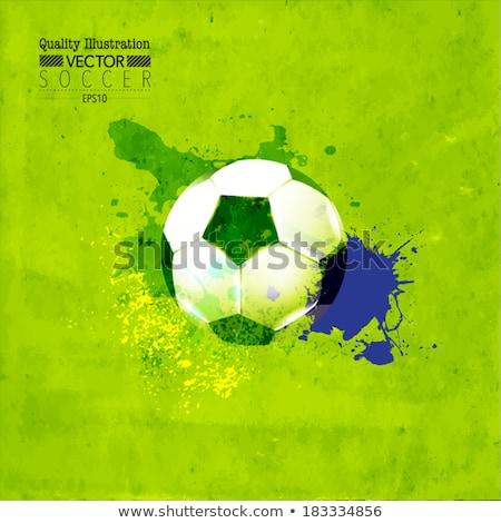fútbol · banner · infografía · iconos · pena · jugador - foto stock © davidarts