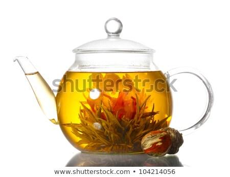 Thé fleur théière fleurs eau Photo stock © aetb