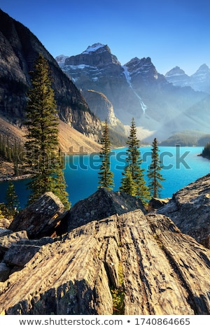 mountain lake and waterfall stock photo © ankarb